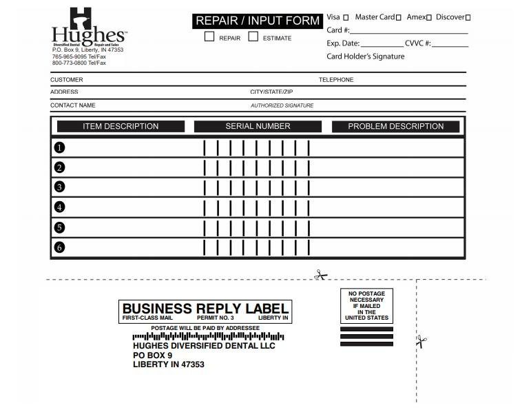 Repair Form Shipping Label